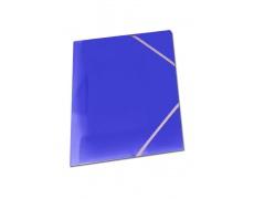Mapa tříklopá OPALINE s gumou modrá, desky na spisy s gumou