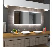 Koupelnové zrcadlo s LED podsvícením 140x110cm BOSTON