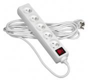 Prodlužovací kabel 2m 5 zásuvek s vypínačem