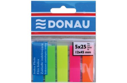 Záložky samolepící 5x25list  index 45x12 DONAU