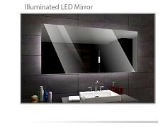 Koupelnové zrcadlo s LED podsvětlením 87x80 cm DUBAI