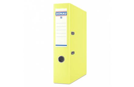 Pořadač pákový A4 DONAU 7,5cm polypropylen žlutý