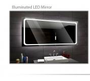 Koupelnové zrcadlo s LED podsvětlením 100x70 cm HOUSTON
