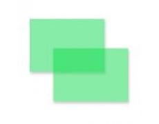 Přední stran pro kroužkové vazače A4 PVC fólie zelená 200mic 100ks