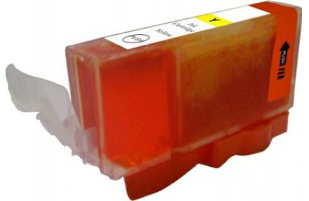 Canon CLI526 Y žlutá S CHIPEM, 11 ml, kompatibilní kazeta cli 526, cli-526