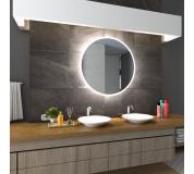 Koupelnové zrcadlo DELHI s LED podsvícením Ø 100 cm