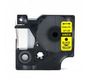 DYMO páska D1 45018 12mm x 7m černo/žlutá kompatibilní páska