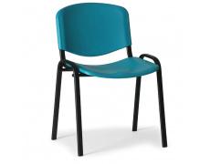 Konfereční židle plastová ISO zelená, černý kov, židle konferenční