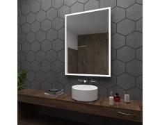 Koupelnové zrcadlo s LED podsvícením 98x126 cm BOSTON