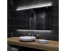 Koupelnové zrcadlo s LED podsvětlením 134x80cm GIZA P podsvětlená i spodní část