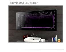 Koupelnové zrcadlo s LED osvětlením 60x40 cm 3D efekt, RGB