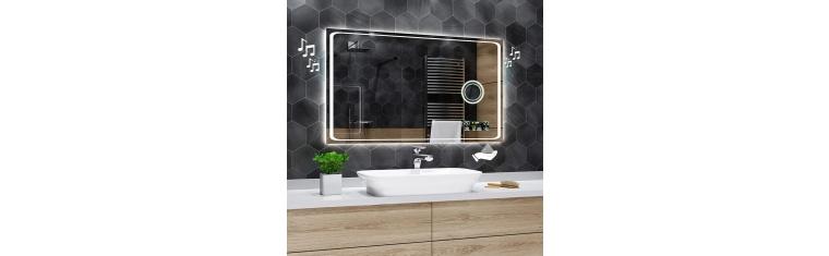 Koupelnové zrcadlo s LED podsvětlením 120x75 cm HOUSTON