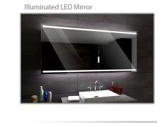 Koupelnové zrcadlo s LED podsvícením 100x60cm DENVER