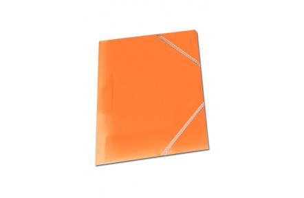 Mapa tříklopá OPALINE s gumou oranžová, desky na spisy s gumou
