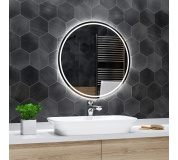 Koupelnové zrcadlo kulaté LONDON s LED podsvícením Ø 50 cm