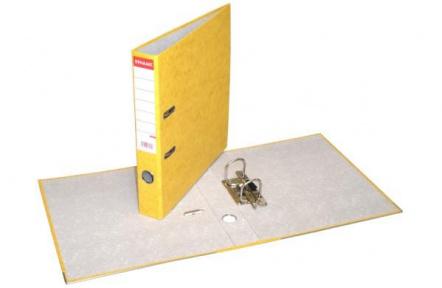 Pořadač pákový A4 PREŠPAN 5cm žlutý