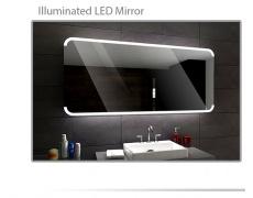Koupelnové zrcadlo s LED podsvětlením 100x70 cm ASSEN