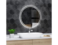 Koupelnové zrcadlo kulaté LONDON s LED podsvícením Ø 55 cm