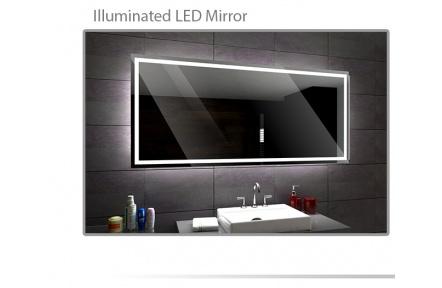 Koupelnové zrcadlo s LED osvětlením 110x70 cm ATLANTA