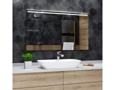 Koupelnové zrcadlo s LED podsvícením 100x70cm GIZA