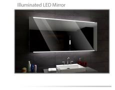 Koupelnové zrcadlo s LED podsvětlením 120x70 cm HOBART