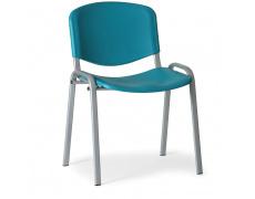 Konfereční židle plastová ISO zelená, šedý kov židle konferenční