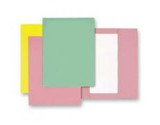 Mapa odkládací 1klopa růžová, papírové desky 1ks