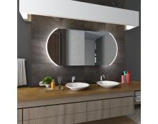 Koupelnové zrcadlo s LED podsvětlením 130x70 cm BALTIMORE