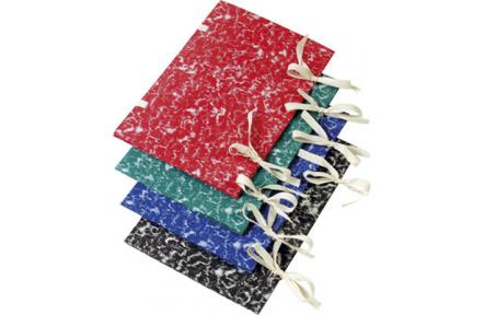 Spisové desky s tkanicí barevný mramor zelená