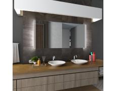 Koupelnové zrcadlo s LED podsvětlením 75x85 cm ARICA