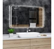 Koupelnové zrcadlo s LED podsvícením 80x40 cm BARCELONA