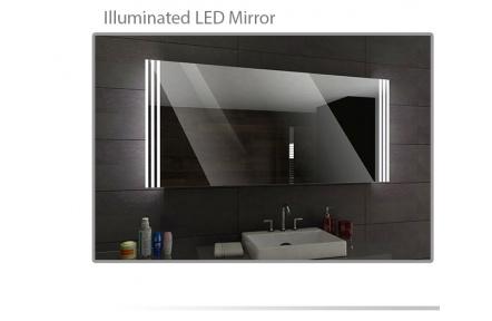 Koupelnové zrcadlo s LED osvětlením 100x70 cm ARICA