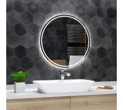 Koupelnové zrcadlo kulaté LONDON s LED podsvícením Ø 100 cm
