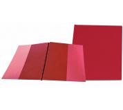Desky SPORO boční kapsy červená A4 desky plastové