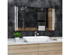 Koupelnové zrcadlo s LED podsvícením 126x90cm PARIS