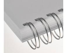 Kovový hřbet 4.8mm stříbrný 100ks