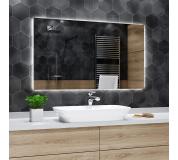 Koupelnové zrcadlo s LED podsvětlením 150x75 cm DUBAI hranaté