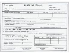 Cestovní příkaz A5 OP51