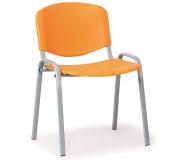 Konfereční židle plastová ISO oranžová, šedý kov židle konferenční