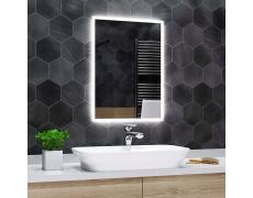 Koupelnové zrcadlo s LED podsvícením 74x85 cm BOSTON, hranaté