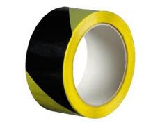 Výstražná lepicí páska PVC žluto-černá 50mm 22m