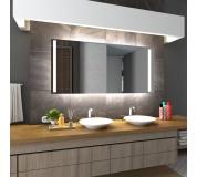 Koupelnové zrcadlo s LED osvětlením 90x70 cm PARIS-DUBAI 2x trafo 2x led (osvětlení, podsvětlení)
