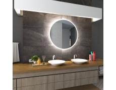 Koupelnové zrcadlo kulaté DELHI s LED podsvícením Ø 90 cm