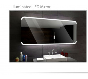 Koupelnové zrcadlo s LED podsvětlením 90x70 cm ASSEN