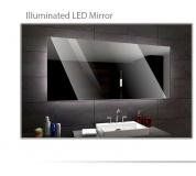 Koupelnové zrcadlo s LED podsvětlením 114x100 cm DUBAI