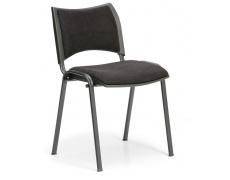 Konfereční židle čalouněná Smart černá, černý kov, židle konferenční
