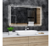 Koupelnové zrcadlo s LED osvětlením 100x75 cm ATLANTA