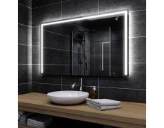 Koupelnové zrcadlo s LED podsvětlením 140x110cm SYDNEY