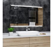 Koupelnové zrcadlo s LED podsvětlením 110x80 cm HOBART