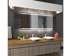 Koupelnové zrcadlo s LED podsvětlením 150x80cm DENVER